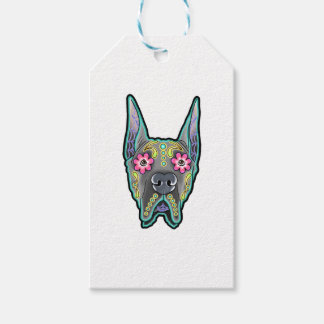 Great dane - cropped ear edition - day of th gift tags