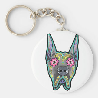 Great dane - cropped ear edition - day of th keychain