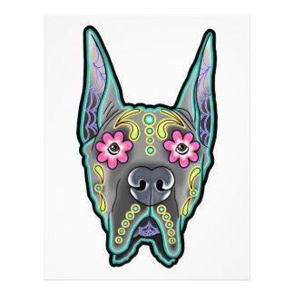 Great dane - cropped ear edition - day of th letterhead design