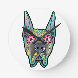 Great dane - cropped ear edition - day of th round clock