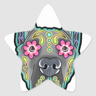 Great dane - cropped ear edition - day of th star sticker