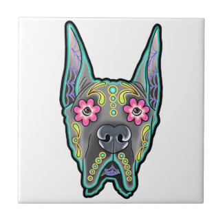Great dane - cropped ear edition - day of th tile