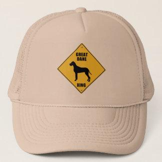 Great Dane Crossing (XING) Sign Trucker Hat