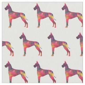Great Dane Customizable Silhouette Tiled Fabric
