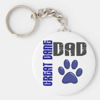 GREAT DANE DAD Paw Print 2 Keychain