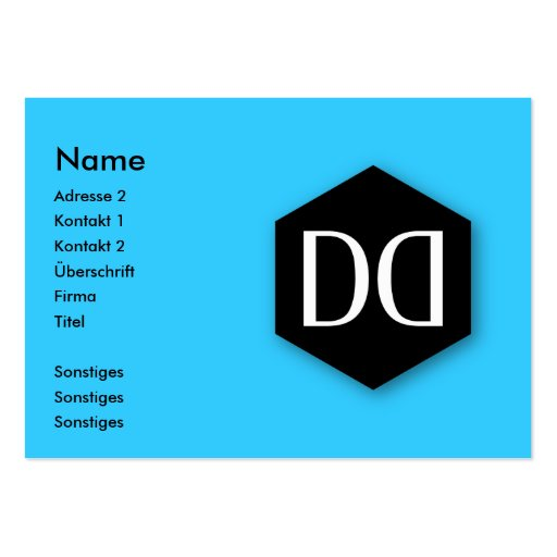 Great Dane DD Identity Business Card Templates