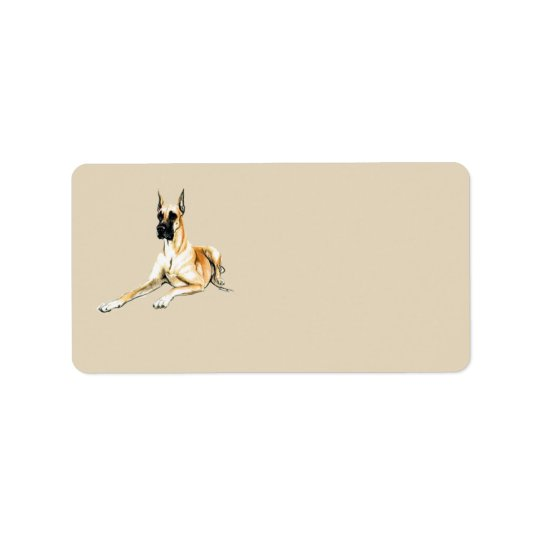 Great Dane Dog Art Address Labels