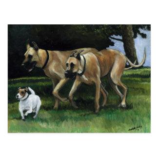 Great Dane Dog Art Postcard