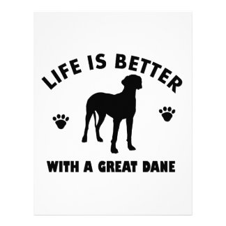 Great Dane dog design Customized Letterhead