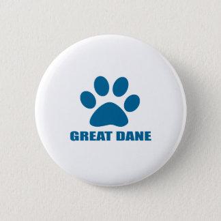 GREAT DANE DOG DESIGNS 2 INCH ROUND BUTTON