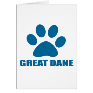 GREAT DANE DOG DESIGNS CARD