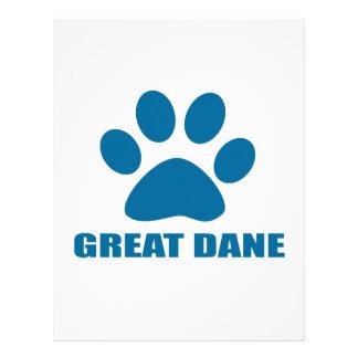 GREAT DANE DOG DESIGNS LETTERHEAD