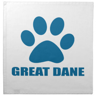 GREAT DANE DOG DESIGNS NAPKIN