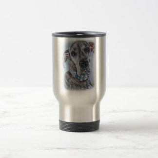 Great Dane Dog Drawing Design Travel Mug
