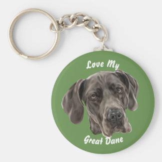 Great Dane Dog Keychain
