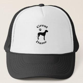 great dane dog pawprint silhouette hat / cap