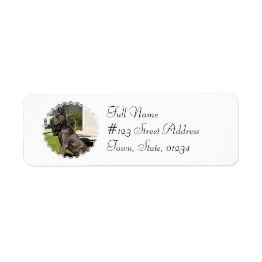 Great Dane Dog Return Address Label