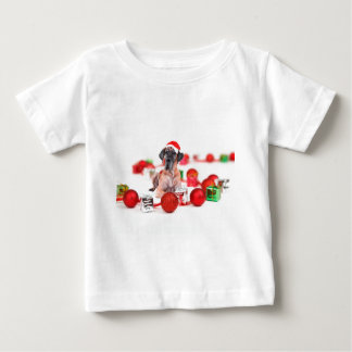 Great Dane Dog with Christmas Ornaments Gifts Baby T-Shirt