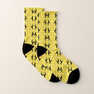 Great Dane Fancy Black Yellow Socks 1