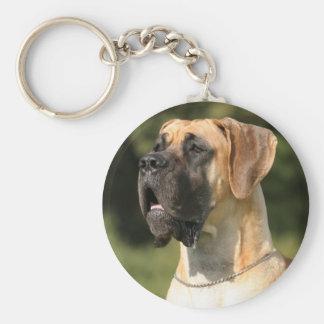 Great dane - fawn/German Dogge - yellow Keychain