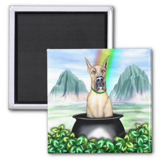 Great Dane Fawn Pot O Gold Magnet