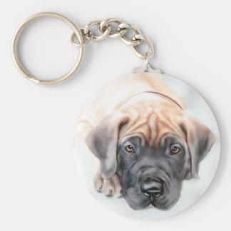 Great Dane Fawn Ransom Pup Keychain