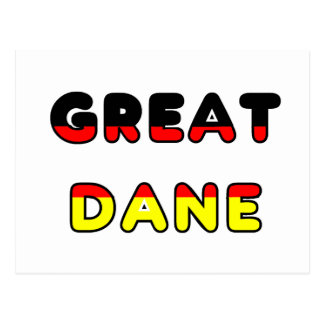 great dane flag in name postcard