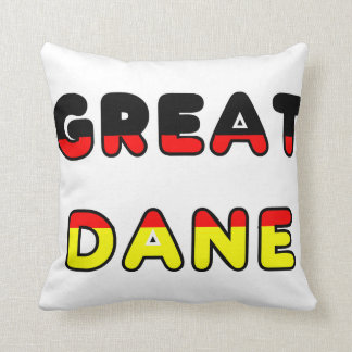great dane flag in name throw pillow