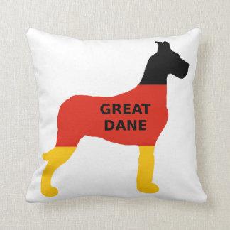 great dane flag name silo flag throw pillow