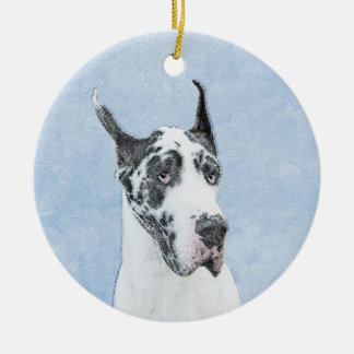 Great Dane (Harlequin) Ceramic Ornament