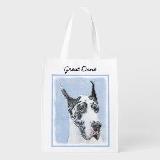 Great Dane (Harlequin) Grocery Bags