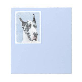 Great Dane (Harlequin) Notepad