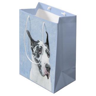 Great Dane (Harlequin) Painting - Original Dog Art Medium Gift Bag