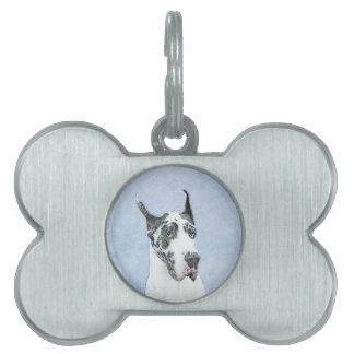 Great Dane (Harlequin) Pet ID Tag