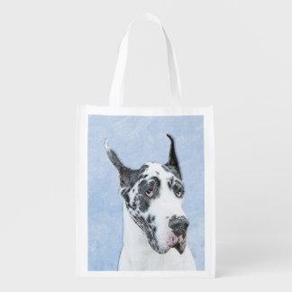 Great Dane (Harlequin) Reusable Grocery Bag