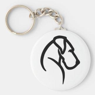 Great Dane Head Pet Tag Keychain