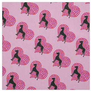 Great Dane Heart Fabric