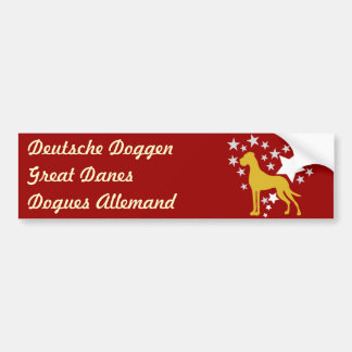 Great Dane Heartstar Bumper Sticker