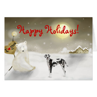 Great Dane Holiday Card
