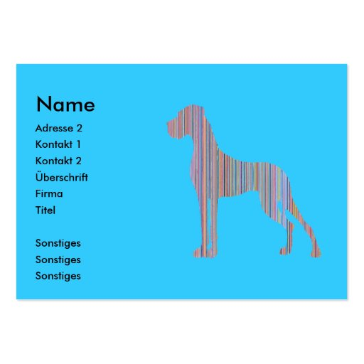Great Dane in Pastel Colors Business Card Templates