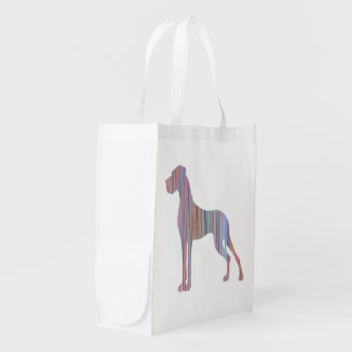 Great Dane in Pastel Colors Grocery Bag