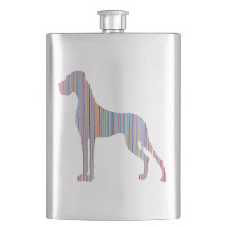 Great Dane in Pastel Colors Hip Flask