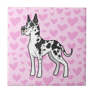 Great Dane Love (cropped) Tile
