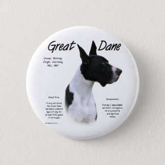 Great Dane (mantle) History Design 2 Inch Round Button
