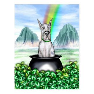 Great Dane Merle Pot O Gold Postcard