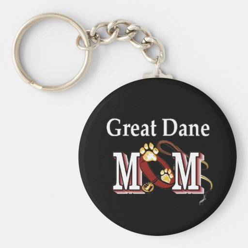 Great Dane Mom Gifts Key Chains
