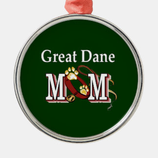 Great Dane Mom Gifts Silver-Colored Round Ornament