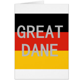great dane name on flag card