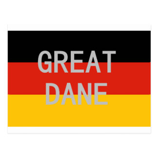 great dane name on flag postcard