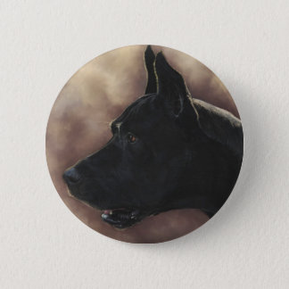 Great Dane Painting 2 Inch Round Button
